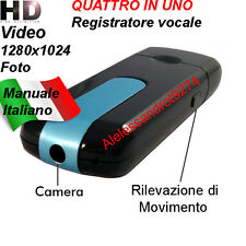 MICROSPIA PENDRIVE SENSORE MOVIMENTO U 8 VIDEO CAMERA REGISTRATORE FOTO SPIA SPY