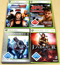 Xbox 360 jeux collection des Assassins Creed Fable II 2 reculer Down raw ufc 2009 3