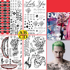 Halloween Suicide Squad Harley Quinn Joker Temporary Tattoos Accessories Random