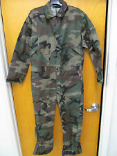 Military Woodland Camo Air Force Style Army Flight Suit Mechanic Coveralls MZ040