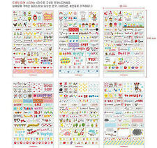 6 Sheet DIY korea Book Wall paper Stickers Diary Scrapbook Decoration Photo Skin