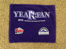 COLORADO ROCKIES 2012 Purple Rally Towel - Year of the Fan  Coors Light