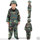 CK432 Army Boys Costume Kids Military Soldier Camouflage Fancy Dress Book Week