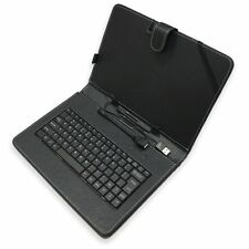 "10.1"" POLLICI PU Pelle Custodia Cover Tastiera USB Supporto per Tablet Android PC"