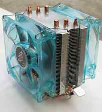 Heatpipe CPU Cooler con 2 x ventole LED per Intel LGA775 1155 1156 AMD AM2 AM2 + AM3