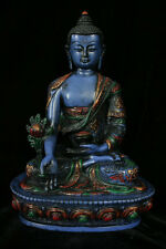 Beautiful Blue Healing Buddha Statue