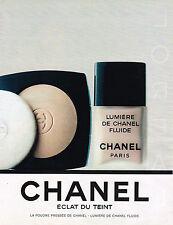 PUBLICITE ADVERTISING 114  1989  CHANEL cosmétiques ECLAT DU TEINT