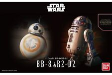 Star Wars Plastic Model Kit 1/12 BB-8 & R2-D2 Bandai Japan NEW **
