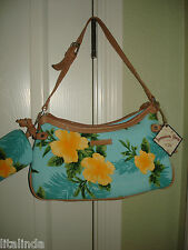 JAMAICAN BAY PURSE WITH CHANGE WALLET ATTACH CANVAS YELLOW  FLOWERS.  NWT