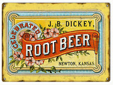 JB Dickey Root Beer Country Advertisement Sign