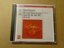 2-DISC CD / BEETHOVEN - BRENDEL: THE LATE PIANO SONATAS (PHILIPS)