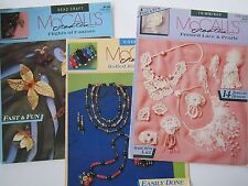McCalls Creates Bead Craft Leaflet Lot Ribbon Lace Jewelry How-To Projects Books