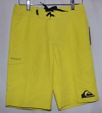 Quiksilver Lime Green Swim Trunks Beach Surf Board Shorts Youth Boys 26 NWT