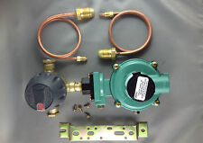 Domestic, Cabin LP Gas Regulator 500Mj,  Automatic Change Over, & Pig Tails