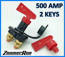 BATTERY SWITCH - 2 KEYS 500AMP UNIVERSAL
