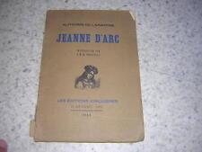 1929.Jeanne d'Arc / Lamartine.envoi autographe de Poncheville