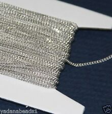 32 ft spool Silver Plated Tiny Curb Chain 1.3mm