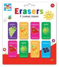 8 PCS KIDS CREATE CHILDREN FRUIT SCENTED ERASER RUBBERS SCHOOL PARTY BAG FILLER