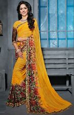 Stylist Multi Color Printed Chiffon Saree with a Blouse D.No RK3008