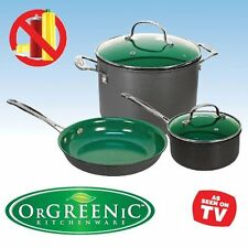 Spark Innovators OrGreenic 5-Piece Ceramic Cookware Set