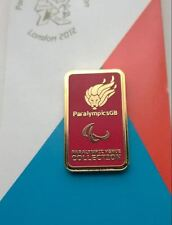 London TEAM GB 2012 Olympics & Paralympics Venue RED & GOLD Pin Badge on Card