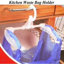 KITCHEN WASTE BAG HOLDER HANGING RUBBISH CARRIER BAG BIN CARAVAN CAMPING TENT