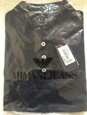 Armani Polo T shirt Short Sleeve Muscle Fit Navy Large
