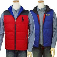[74 33] RALPH LAUREN NWOT BOYS RL2000 RED BLUE REVERSIBLE VEST JACKET SIZE XL