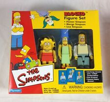 Simpsons Blocko Figures 3-Pack Set Homer Marge Lisa Family House 2002 Playmates