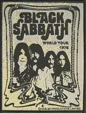 "BLACK SABBATH AUFNÄHER / PATCH # 16 ""WORLD TOUR '78"""