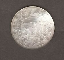 Antique mother of pearl gaming token/compteur sculptés à la main # m