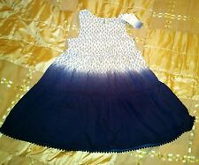 BNWT NEXT dip dyed blue dress 4-5 years
