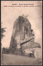cartolina SASSO strada bologna-porretta-arenaria sovrastante la ferrovia