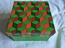 Vintage Marshall Field's Advertising Funky Stacked Cubes Christmas Sq Gift Box