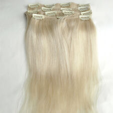 "16""-30"" Clip In Human Hair Extensions 100% Real Hair Full Head 8PCS Set Thick"