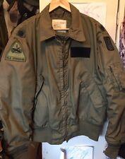 Vintage Vietnam War USAF Cold Weather Flyer's Bomber Ironsides Patch Jacket.