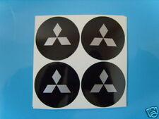 4x 55 mm fits mitsubishi wheel STICKERS center badge centre trim cap hub alloy