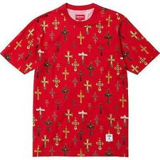 SUPREME Crosses Tee Shirt Red XL Box Logo garcons kate moss S/S 13 camp cap