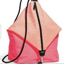 NEW VICTORIA'S SECRET SLING DRAW STRING BAG BEACH TOTE BACKPACK PINK