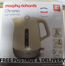Morphy Richards Chroma Jug Kettle Cream & Silver Rapid Boil 101207 New Boxed