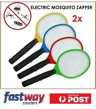 2 x Bug Zapper Electric Tennis Racket Mosquito Fly Swatter Killer Insects Handhe