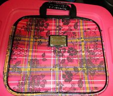 Betseyville Betsey Johnson Laptop Case Bag Plaid w/ Pink Flowers Plaid fits 14""