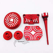 Red Engine Dress Up Kit For Lifan YX Zongshen 110 125cc Pit Dirt Bike Motorcycle