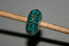 Original Trollbeads - Longevity Turquoise - Gold Glitter - Limited Unique OOAK