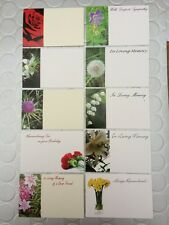 10 Assorted Remembrance Florist Cards With Plastic Sleeves & Cardette Holders