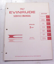 Service manual for 5 HP Evinrude outboard motor 1967