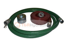 """1-1/2"""" Green FCAM x MP Water Suction Hose Kit w/75' Red Discharge"""