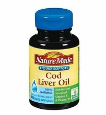 Nature Made Cod Liver Oil Softgels 100 Soft Gels