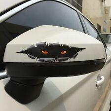 2x 3D Car Sticker Eyes Peeking Car Hoods Trunk Thriller Rear Window Decal