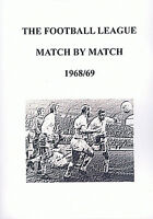 The Football League Match By Match - 1968/69 Season Complete Statistics book